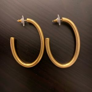 Madewell oval hoops - new